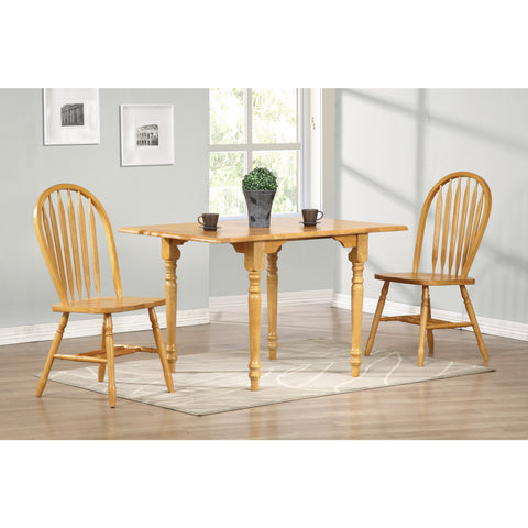 Sunset Trading 3pc Drop Leaf DLU-TLD3448-820-LO3PC Dining Set - Pankour
