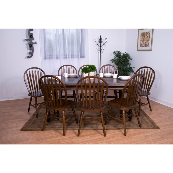 Sunset Trading 9 piece Extension DLU-SLT4272-820-CT9PC Dining Set - Pankour