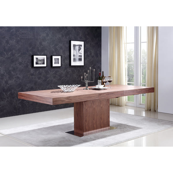 "Casabianca Ponte Collection TC-0067-WAL 71""-94 Extendable Dining Table - Pankour"