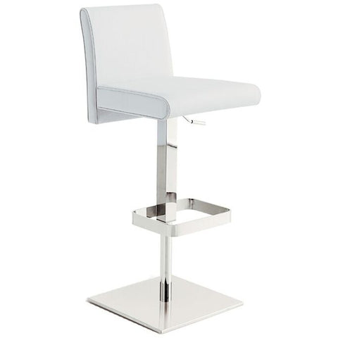 VITTORIA Collection Italian White Leather  Bar Stool by Talenti Casa - Pankour