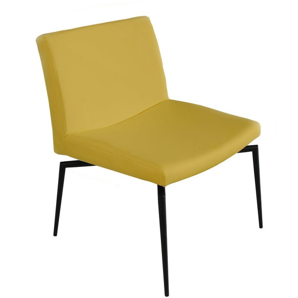 LENOX Collection Dijon Yellow Eco-leather Accent Chair TC-271-Y by Casabianca Home - Pankour