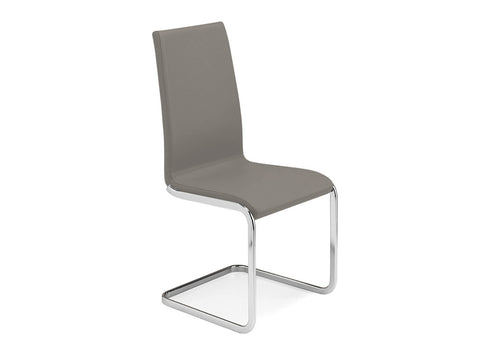 Talenti Casa AURORA TC-2020-T Dining Chair Italian Taupe Leather - Pankour