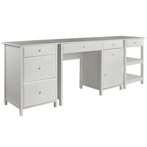 Winsome Wood 10387 Delta 3-Pc Home Office Set