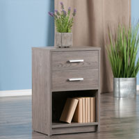 Winsome Wood 16216 Molina Accent Table Ash Gray Finish