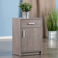 Winsome Wood 16317 Astra Accent Table Ash Gray Finish