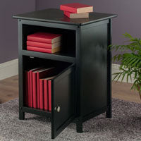 Winsome Wood 20115 Henry Accent Table Black