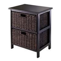 Winsome Wood 20216 Omaha Storage Rack with Fold-able Baskets