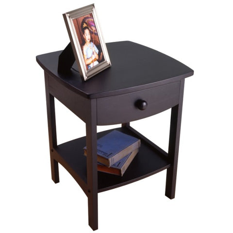 Winsome Wood 20218 Claire Accent Table Black Finish