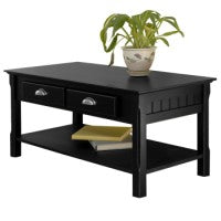 Winsome Wood 20238 Timer Coffee Table, drawers and shelf