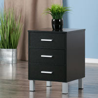 Winsome Wood 20917 Cawlins Accent Table Black Finish