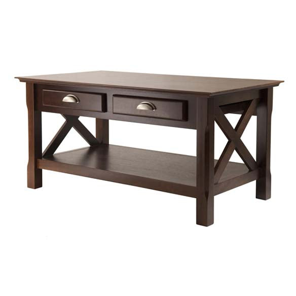 Winsome Wood 40538 Xola Coffee Table with 2 Drawers