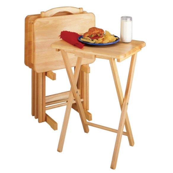 Winsome Wood 42520 Alex 5-PC Snack Table Set Natural