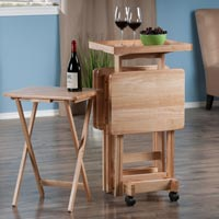 Winsome Wood 42820 Snack Table Set Natural
