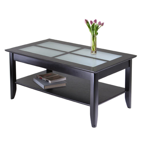 Winsome Wood 92140 Syrah Coffee Table with Frosted Glass