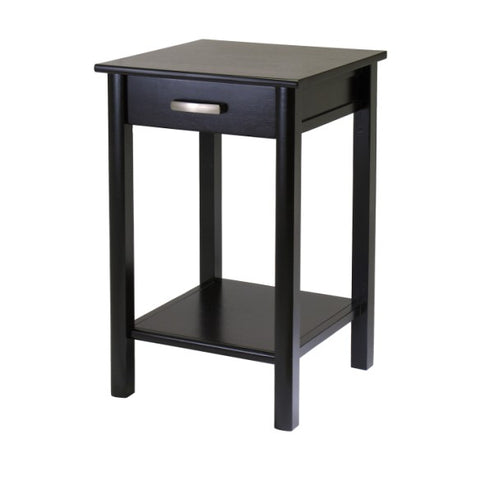 Winsome Wood 92719 Liso End Table / Printer Table with Drawer and Shelf