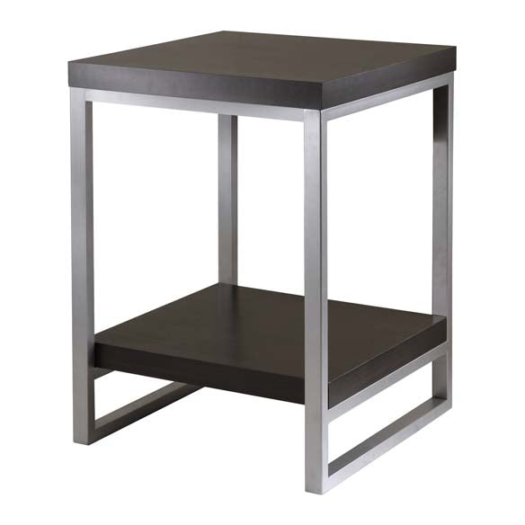 Winsome Wood 93418 Jared End Table, Enamel Steel Tube