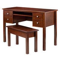 Winsome Wood 94247 Emmett 2-pc Writing Desk with Storage Bench Set