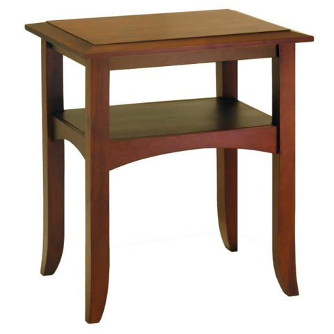 Winsome Wood 94723 Craftsman End Table with Shelf