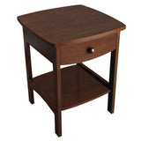 Winsome Wood 94918 Claire Accent Table Antique Walnut Finish