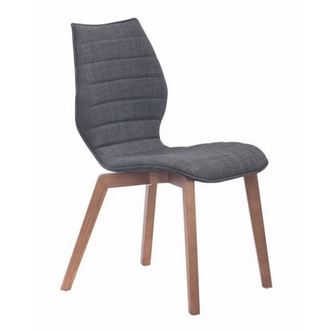 ZUO Modern Aalborg 100057 Dining Chair Graphite - Pankour