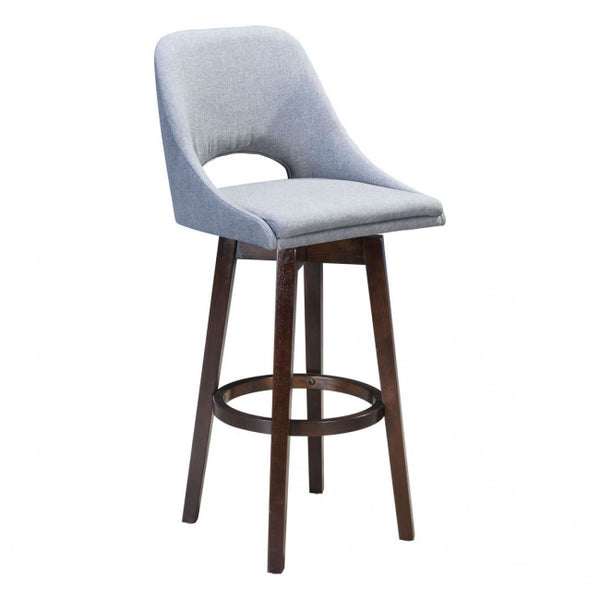 ZUO Modern Ashmore 101010 Bar Chair Charcoal Gray - Pankour