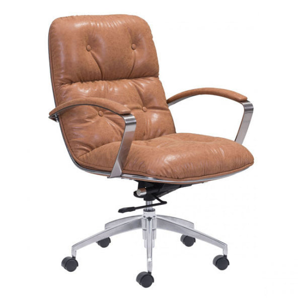 ZUO Modern Avenue 100446 Office Chair Vintage Coffee - Pankour