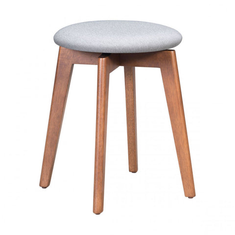 ZUO Modern Billy 100976 Stool Walnut & Light Gray - Pankour