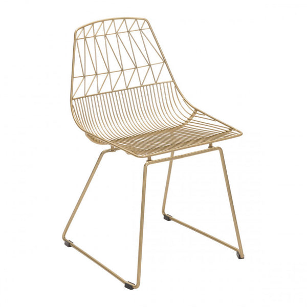 ZUO Modern Brody 101023 Dining Chair Gold - Pankour