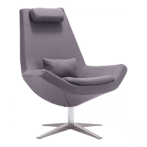 ZUO Modern Bruges 500510 Occasional Chair Charcoal Gray - Pankour