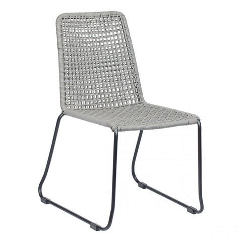 ZUO Modern Carlo 703881 Dining Chair Blk & Drk Gray - Pankour