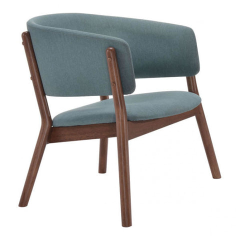 ZUO Modern Chapel 100155 Lounge Chair Blue - Pankour