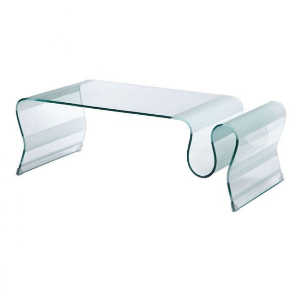 ZUO Modern Discovery 404102 Coffee Table Clear Glass - Pankour