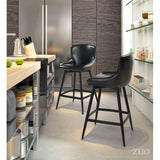 ZUO Modern Dresden 100758 Counter Chair Black - Pankour