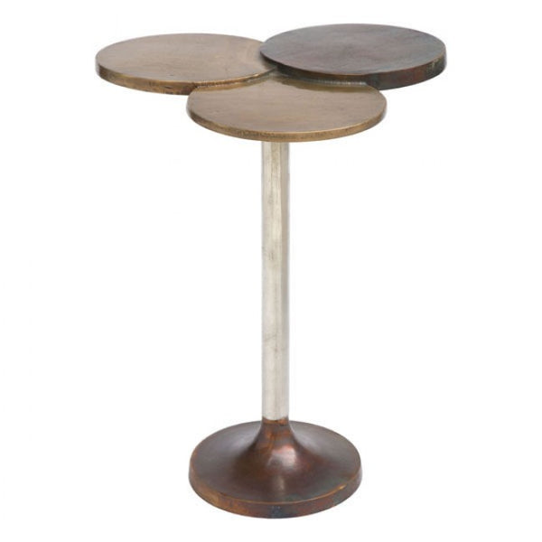 ZUO Modern Dundee 405006 Accent Table Antique Brass - Pankour