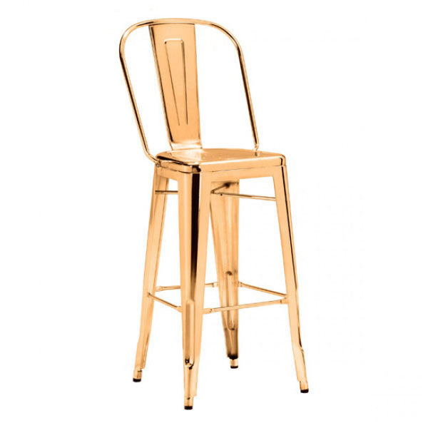 ZUO Modern Elio 108062 Bar Chair Gold - Pankour