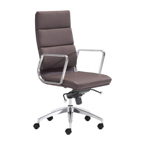 ZUO Modern Engineer 205894 High Back Office Chair Espresso