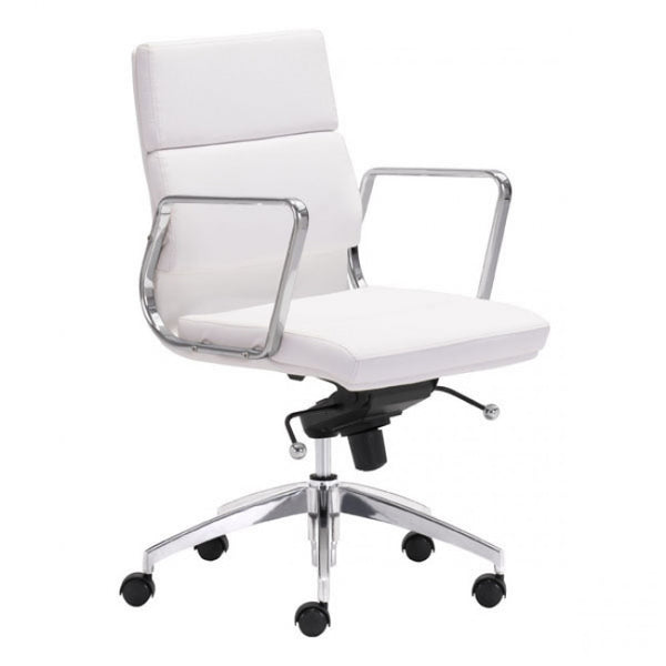 ZUO Modern Engineer 205896 Low Back Office Chair White