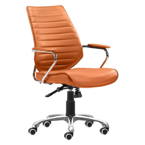 ZUO Modern Enterprise 205167 Low Back Office Chair Terra