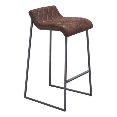 ZUO Modern Father 100408 Barstool Vintage Brown - Pankour