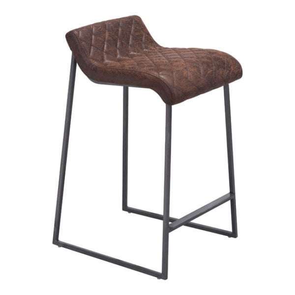 ZUO Modern Father 100410 Counter Stool Vintage Brown - Pankour