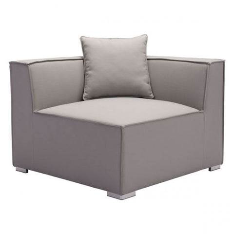 ZUO Modern Fiji 703855 Corner Chair Gray