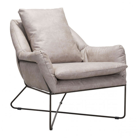 ZUO Modern Finn 101003 Lounge Chair Distressed Gray