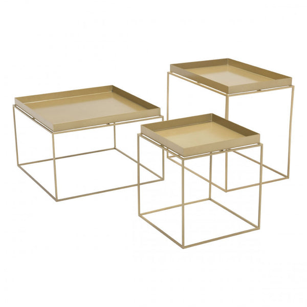 ZUO Modern Gaia 101166 Nesting Table Gold - Pankour