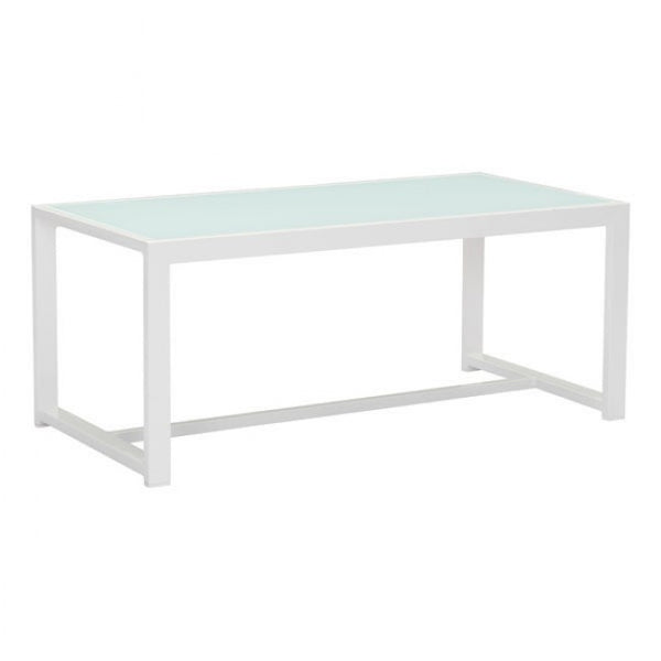 ZUO Modern Golden Beach 703815 Coffee Table White - Pankour