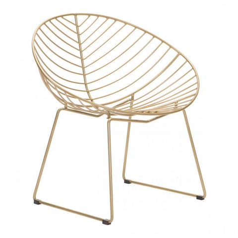 ZUO Modern Hyde Outdoor 101029 Lounge Chair Gold