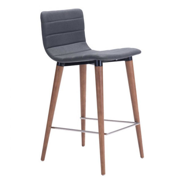 ZUO Modern Jericho 100272 Counter Chair Gray
