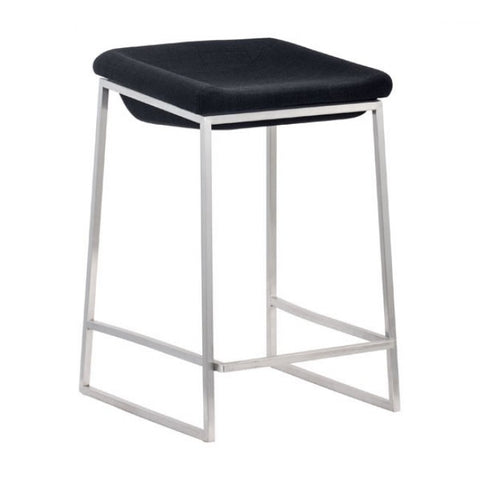 ZUO Modern Lids 300037 Counter Stool Dark Gray