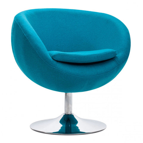 ZUO Modern Lund 500322 Occasional Arm Chair Island Blue