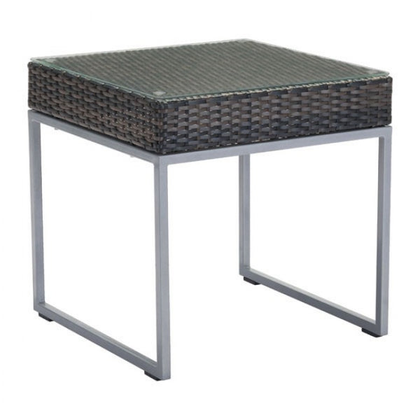ZUO Modern Malibu 703837 Side Table Brown & Silver