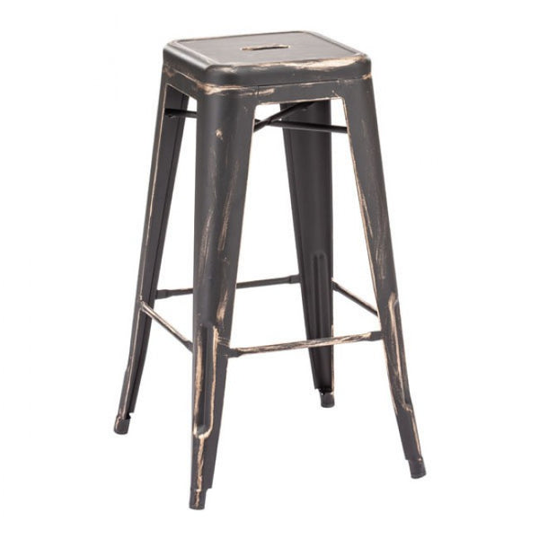 ZUO Modern Marius 106108 Barstool Antique Black Gold